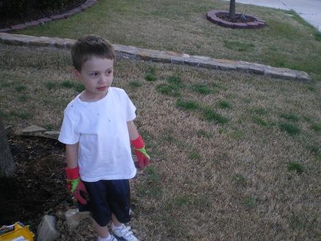 Ladybug gloves - oh yeah!