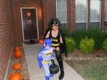 Batman and Batgirl ready for action!