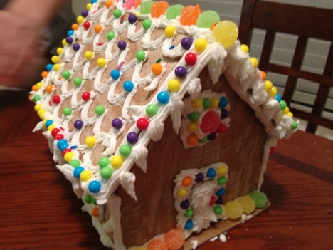 Our annual gingerbread house