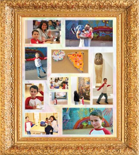 DMA collage_gold frame