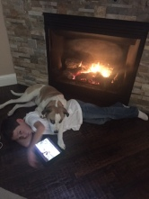 not sure if she loves me or the fire